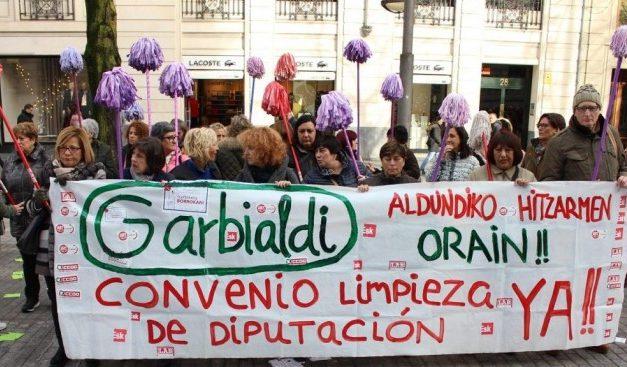 Firmado el convenio de limpieza de Diputación de Bizkaia