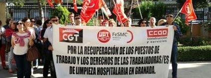 Suspendidos los paros en limpieza hospitalaria, como gesto de buena voluntad, mientras se negocia en el SERCLA